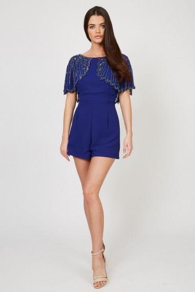 Lace & Beads Jodie Blue Playsuit