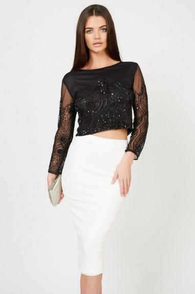Lace & Beads Biba Black Jacket