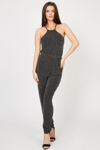TFNC Disco Black Jumpsuit