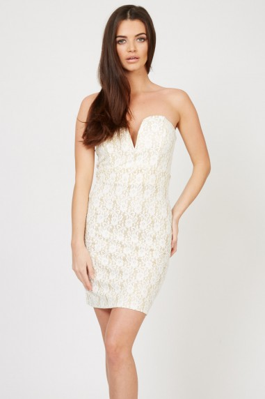 TFNC Halo Lace Bodycon Mini Dress
