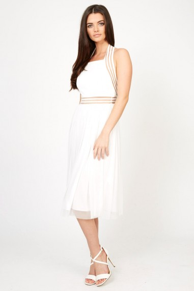 TFNC Sabila White Midi Dress