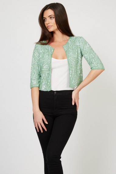 Lace & Beads Star Green Jacket