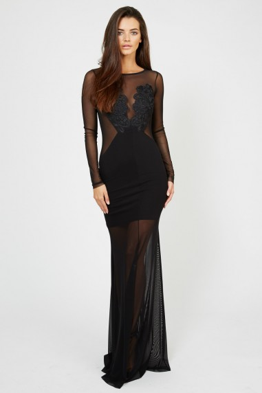 TFNC Petite Black Maxi Dress