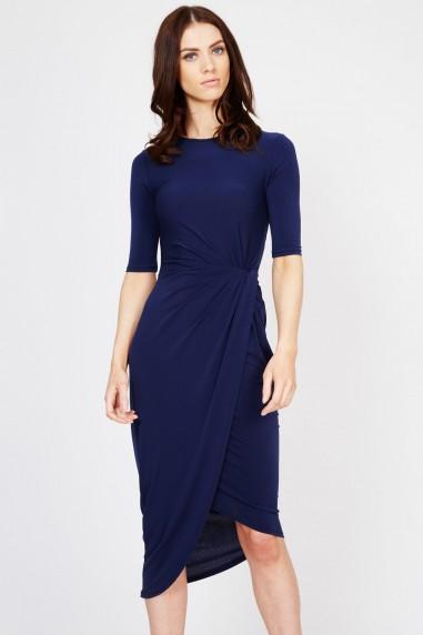 WalG Knot Tie Navy Dress