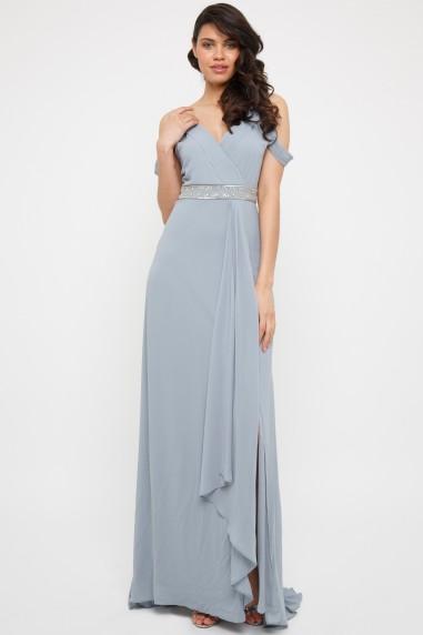 TFNC Iulia Blue Grey Maxi Dress