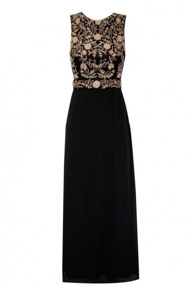 Lace & Beads Andora Black Maxi Dress