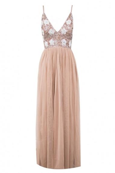 Lace & Beads Avon Mauve Maxi Dress