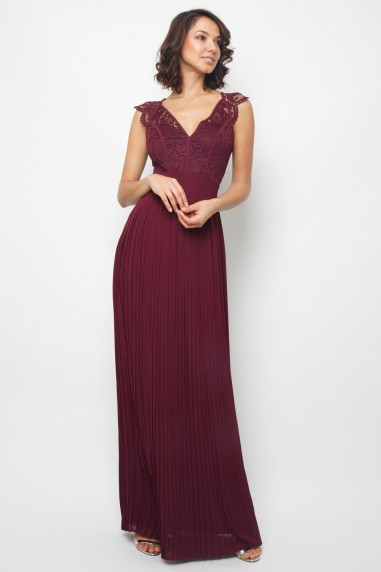 TFNC Shannon Grape Wine Maxi Dress