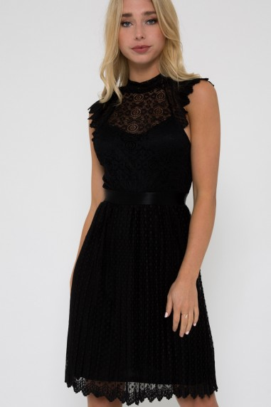 TFNC Sicily Mini Black Dress