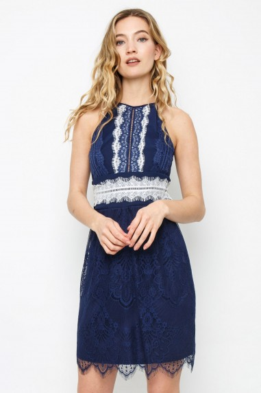 TFNC Bridget Navy Midi Dress