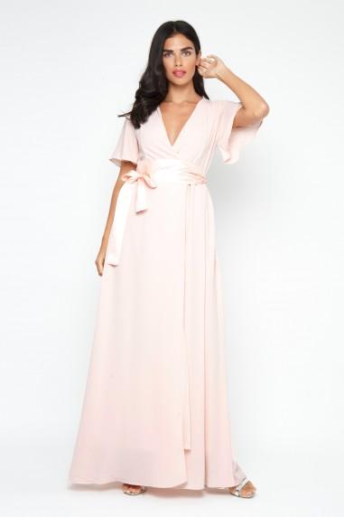 TFNC Omaria Peach Blush Maxi Dress