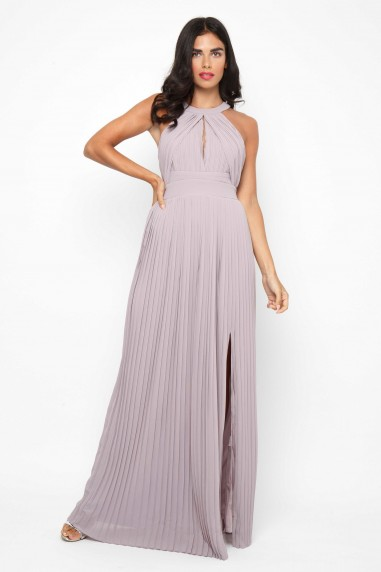 TFNC Prague Lavender Fog Grey Maxi Dress