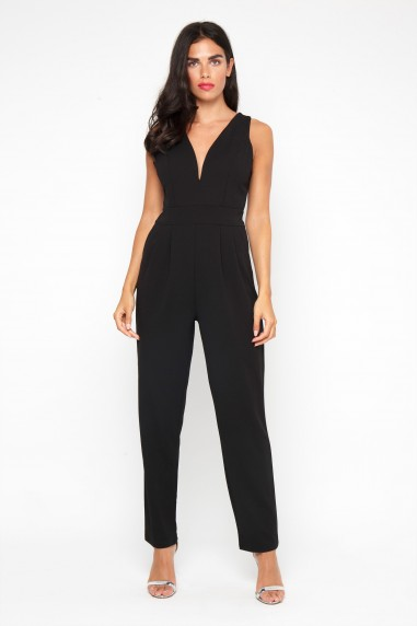 WalG Deep V Black Jumpsuit 8c0c323e4
