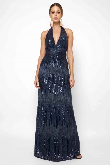 TFNC Satya Navy Sequin Maxi Dress