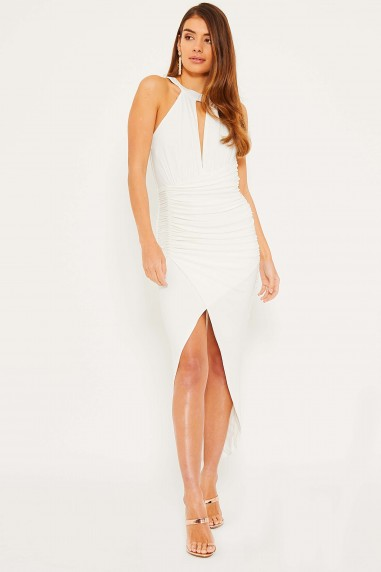 TFNC Tao White Midi Dress
