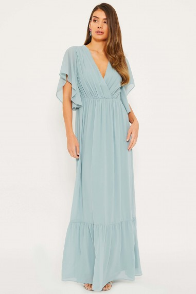 TFNC Jael Dusty Sage Maxi Dress