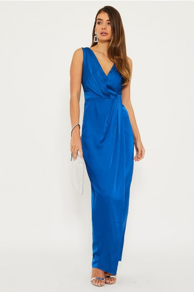 TFNC Solita Cobalt Maxi Dress