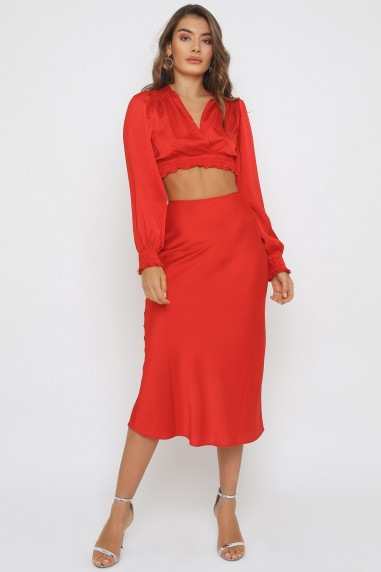 TFNC Thessa Red Skirt