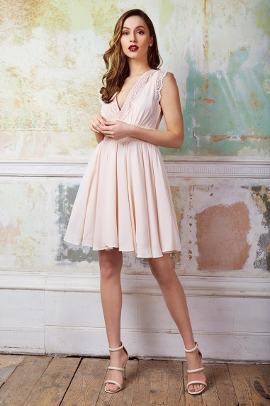 TFNC Perry Nude Midi Dress