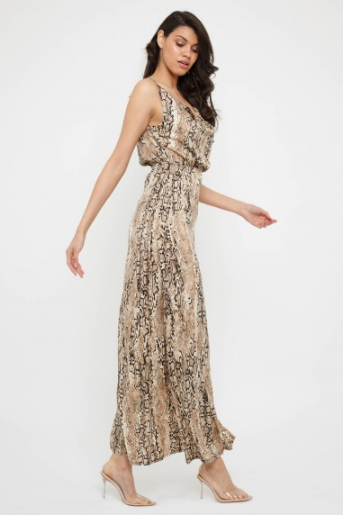 TFNC Allegra Animal Print Maxi Dress