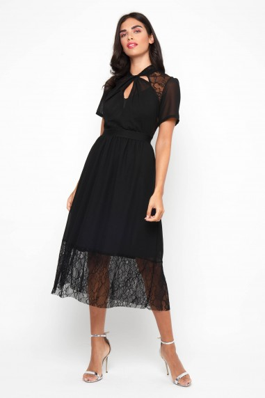TFNC Nancy Black Midi Dress
