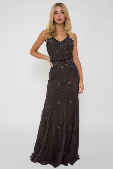 Lace & Beads Keeva Stone Maxi Dress