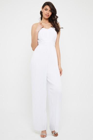 TFNC Diray White Jumpsuit
