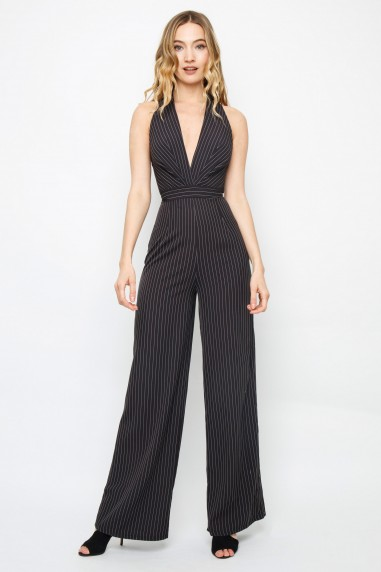 TFNC Teena Black Jumpsuit
