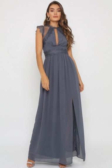 TFNC Valetta Vintage Grey Maxi Dress