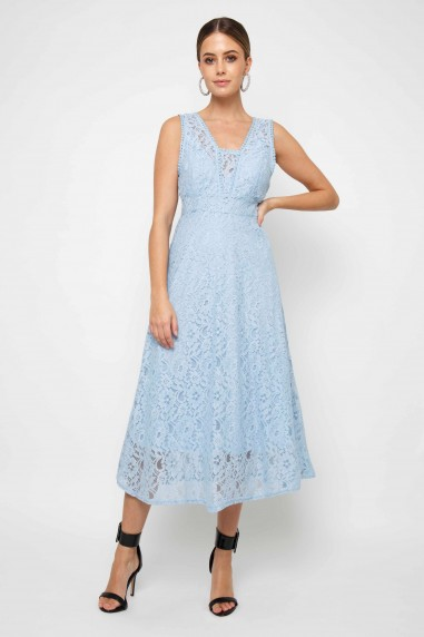 TFNC Majorelle Sky Blue Maxi Dress