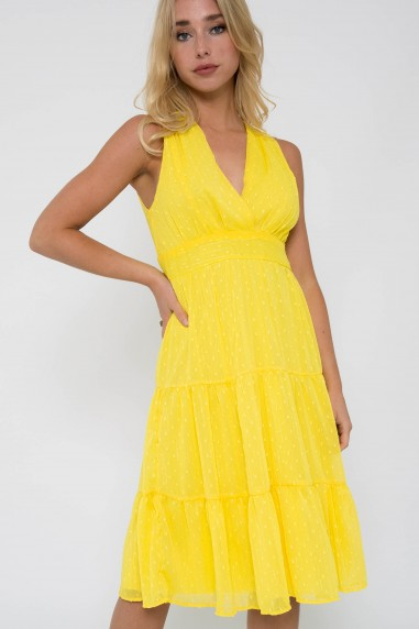 TFNC Roselina Yellow Midi Dress