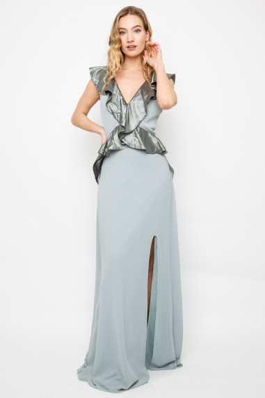 TFNC Lainey Green Lily Maxi Dress