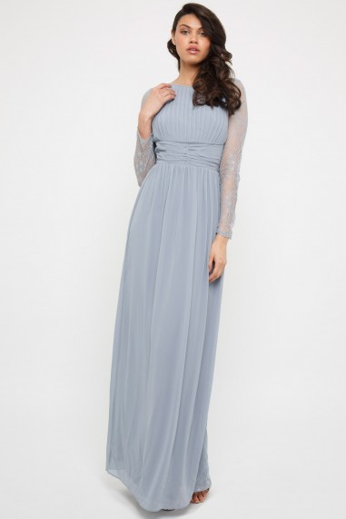 TFNC Jadine Blue Grey Maxi Dress