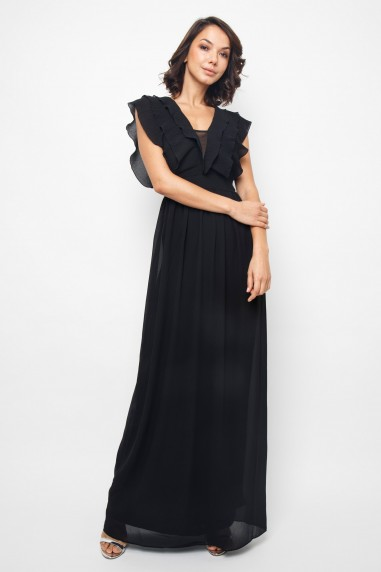 TFNC Tesla Black Maxi Dress