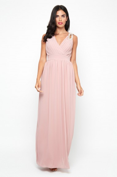 TFNC Debby Pale Mauve Maxi Dress