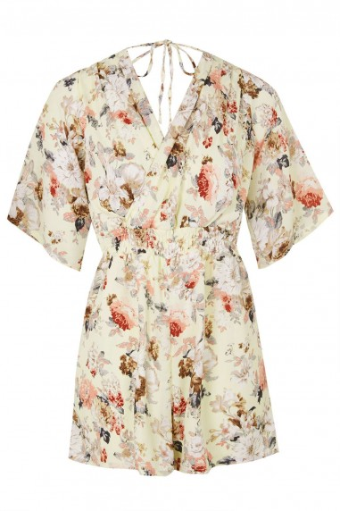 TFNC Cameo Floral Playsuit