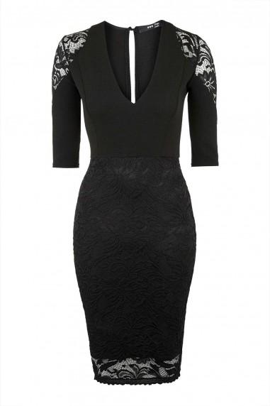 TFNC Mariette Black Bodycon Dress