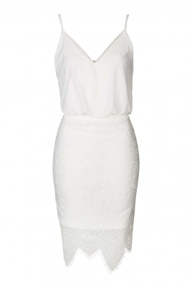 TFNC Ania White Cami Dress
