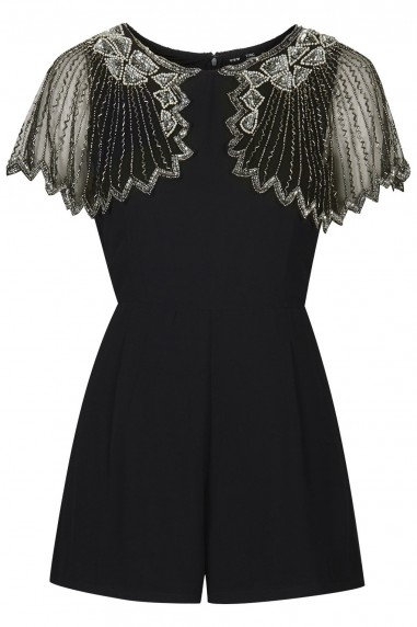 Lace & Beads Jodie Black Playsuit