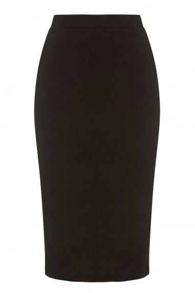TFNC Rika Black Midi Skirt