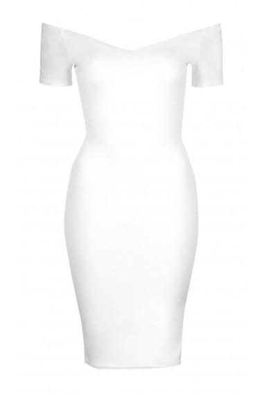 TFNC Shela White Midi Dress