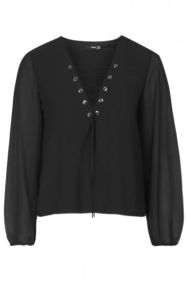 TFNC Carmen Black Blouse