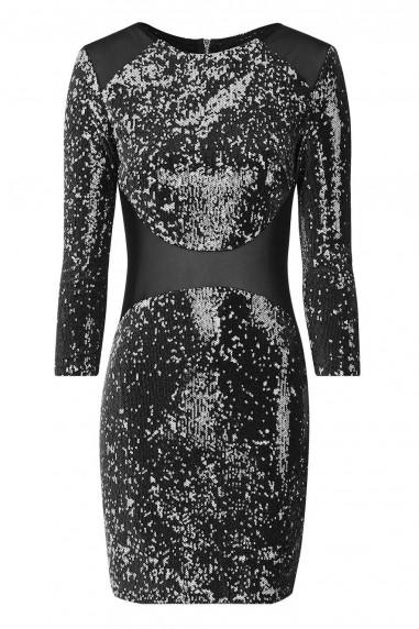 TFNC Bizzie Black Sequin Dress