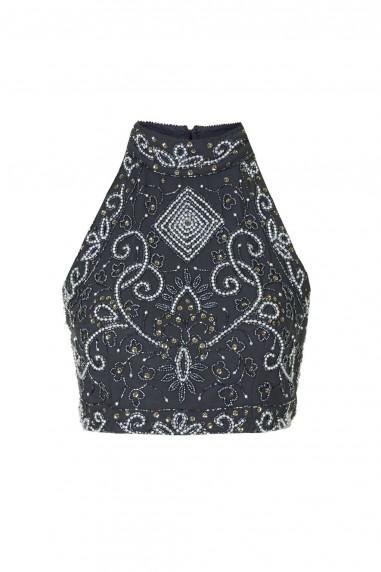 Lace & Beads Paula Navy Top