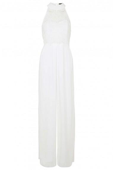 TFNC Bari Culottes White Jumpsuit