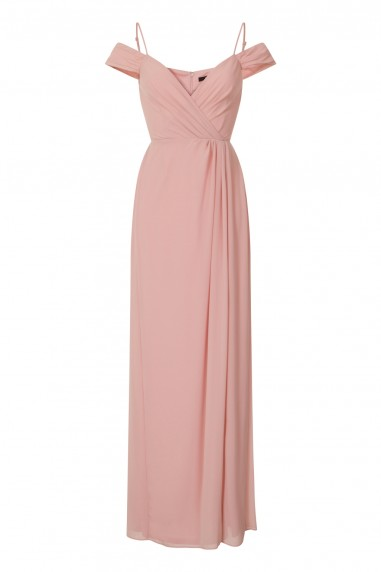 TFNC Celena Pink Maxi Embellished Dress