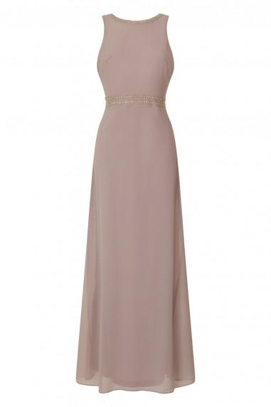 TFNC Ava Grey Maxi Embellished Dress