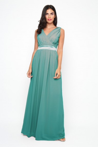 TFNC Kily Native Green Maxi Dress