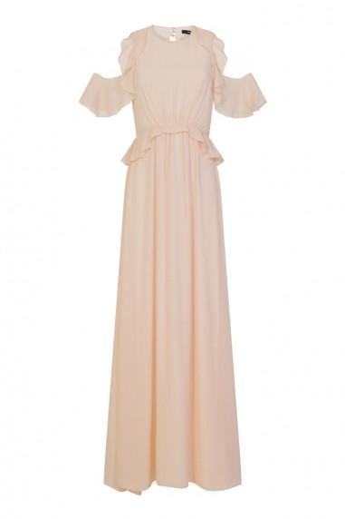 TFNC Soledo Nude Maxi Dress