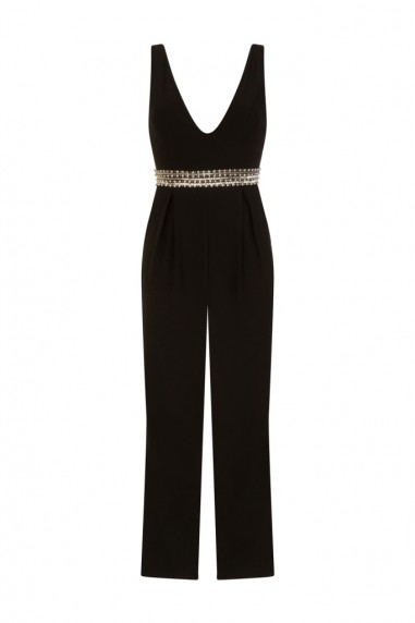 TFNC Aria Black Jumpsuit